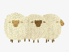 """Find and save images from the """"Illustration"""" collection by Ivna (ivnalins) on We Heart It, your everyday app to get lost in what you love. Sheep Art, Sheep Wool, Sheep Illustration, Baa Baa Black Sheep, Little Bo Peep, Sheep And Lamb, Illustrations, Farm Yard, Farm Animals"""