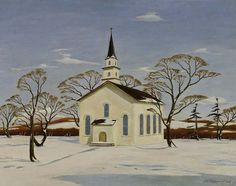 The Country Church, 1936, Arthur E. Cederquist, oil on canvas, 24 x 30 1/4 in. (60.9 x 76.7 cm.), Smithsonian American Art Museum, Transfer from the U.S. Department of State, 1965.32