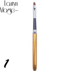 1Pcs Different Sizes Copper Handle Nail Art Brush Set Design Polish Nylon UV Gel Painting Nail Brushes