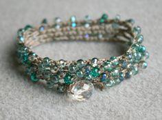 Crochet+Bohemian+wrap+bracelet+necklace+lariat+by+OlenaDesigns,+$30.00