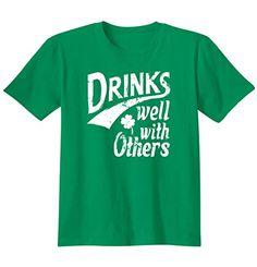 St Patricks Day - Drinks Well With Others Printed Adult T-Shirt Classic Teaze http://www.amazon.com/dp/B00RLXEKQO/ref=cm_sw_r_pi_dp_Vp7.ub1QJRKYQ