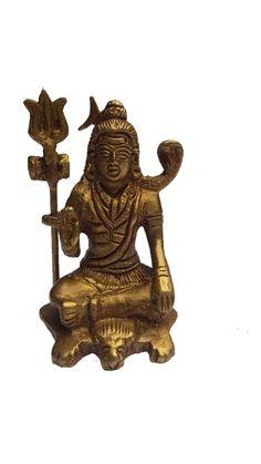 <b>Content: </b>Pure Brass Shivji in Meditation Pose<br> <b>Material: </b>Brass<br>