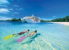 Snorkelling with Blue Lagoon Cruises #fiji #travel #islands