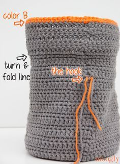 Free Pattern: Organization Now! Hanging Crochet Basket - moogly