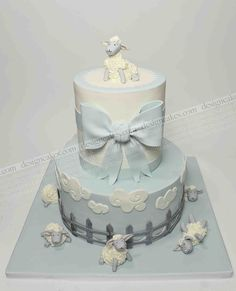 THIS is the color of his nursery! Baby Boy Cakes, Baby Shower Cakes, Baby Shower Themes, Baby Boy Shower, Sheep Cake, Lamb Cake, Cupcakes For Boys, Ballerina Cakes, Pistachio Cake