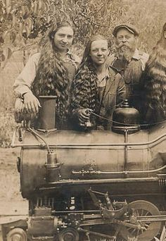 creepy long haired boys antique from vetunk on etsy