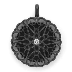 """With quality keepsake craftsmanship, and design inspiration from Parisian flea markets, update your jewelry collection with this sophisticated and eye-catching Sentiments Black Twist Living Locket™ set. Accentuated with a single sparkling Swarovski® Crystal, it is the perfect way to change your mood in style. Wear it on our 20-22"""" Black Dainty Flat Oval Link Chain and layer it with your favorite Living Locket® for a beautiful look.  #quality #keepsake #craftsmanship #design #jewelry #black"""