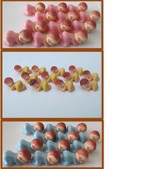 New 36 Blue, Pink, or Yellow Mini Plastic Sleeping Baby Boy, Girl, or Surprise Shower Decoration Favor Charm Cupcake Topper on Etsy, $8.99  @julia haskins-alvarado