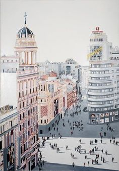 Eloy Morales, Types Of Painting, Aesthetic Collage, Urban Art, Old World, Home Art, New Art, Illustrators, Paris Skyline