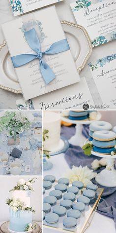 french blue and periwinkle watercolor flower in shield shape wedding invitations with silk ribbon SWPI036 #wedding #weddinginvitations#stylishwedd #stylishweddinvitations #vellumweddinginvitations