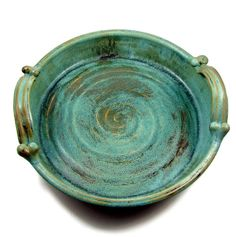 Large Bronze Stoneware Platter with Handles / by PatsPottery