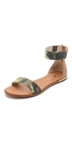 Yosi Samra Cambelle Camo Flat Sandals   SHOPBOP