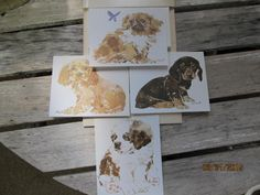 Vintage Current Linda K Powell Pups Puppies Dogs  Note Cards New Old Stock Paper Ephemera by EvenTheKitchenSinkOH on Etsy