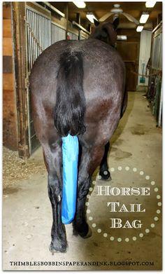 HORSE LYCRA TAIL BAG-new-BLACK AND WHITE ZEBRA