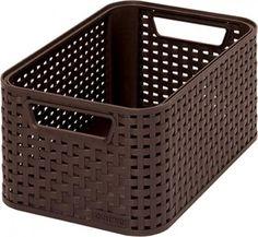 Košík Curver® STYLE2 S, hnedý, 28x12x19 cm Plastic Laundry Basket, Minion, Rattan, Organization, Malacca, Modern, Home Decor, Style, Products