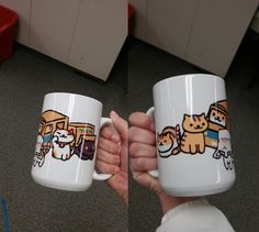 I made a neko atsume mug in graphics class and im gonna make another using NarcoticCarnival's undertale layout she used for hers B^)