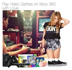 """Play Video Games on Xbox 360 with Louis"" by vane-abreu ❤ liked on Polyvore featuring Vans, Forever 21, dELiA*s and Microsoft"