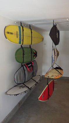 The Big Squid A Storage or Display Surfboard by GrippinSquid Surfboard Storage, Surfboard Rack, Kayak Storage, Garage Storage, Storage Organization, Surf House, Boat House, Outdoor Toy Storage, Survival Tips