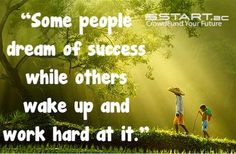 Success is the product of hard work! www.start.ac #crowdfunding