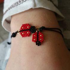 Edoşum un uğur böcekli bilekligi  #takı#bileklik#miyuki#miyukibileklik# #miyukibeads#elyapımı#handmade #hediye#handmadejewelry