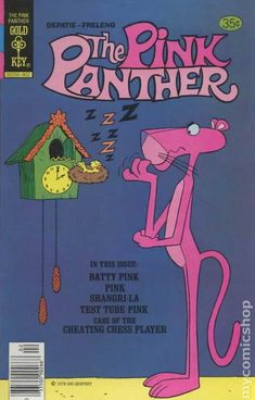 Cover for The Pink Panther (Western, 1971 series) [Gold Key] Movie Prints, Kids Prints, Classic Comics, Classic Cartoons, Vintage Cartoon, Vintage Comics, Comic Book Covers, Comic Books, Desenhos Hanna Barbera