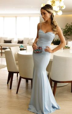 2019 Gorgeous Sweetheart Prom Dress Mermaid Formal Evening Gown Spaghetti Straps from Beloves Prom Dresses Blue, Mermaid Prom Dresses, Bridesmaid Dresses, Formal Dresses, Party Dresses, Formal Prom, Vestidos Azul Serenity, Sweetheart Prom Dress, Mermaid Sweetheart