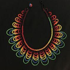 Collar de abalorios / trabajo/arco iris collar de por TRIBALMUNAYA