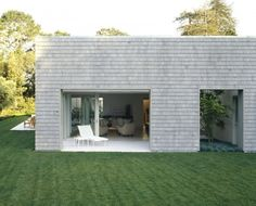 California Residence by Dirk Denison Architects. Cedar Shingle elevation, Contemporary form