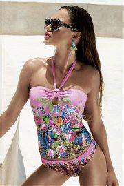 b7b640aa5aba Dámske luxusné tankiny Zarah s kosticami farebná