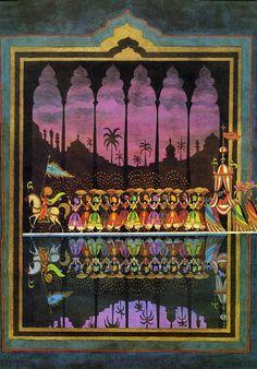 Sheherezade. Illustration by Kay Nielsen, 1917. - Visions of the Jinn: A Visual History of Arabian Nights | Brain Pickings