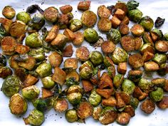 Apple Balsamic Roasted Brussel Sprouts.  Use promo code PINTEREST at checkout at www.puremountainoliveoil.com and receive $5 off $50 or more.