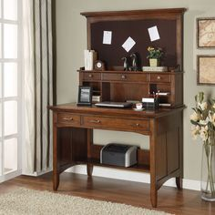 Have to have it. Riverside Oakton Village Writing / Laptop Desk with Optional Hutch $920.25
