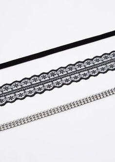 image of 3-Pack Goth Glam Choker Set