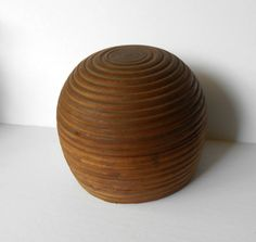 Vintage Wood Shaving Bowl 3 pieces Double by MargsMostlyVintage