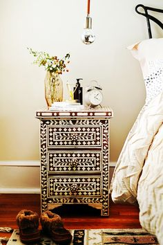 Bone Inlay Nightstand #AnthroFave