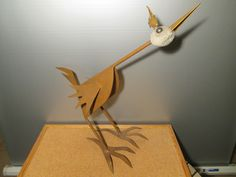 birds made of steel and natural stone (granite)
