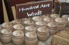 Winnie the Pooh themed baby shower wooden hunny pots