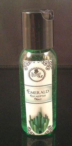 Eucalyptus mint hand sanitizer antibacterial 1 oz party favor Emerald City Wizard of Oz inspired hand disinfectant eucalyptus mint scented on Etsy, $3.00