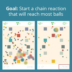 Gameplay is simple. Tap on the screen to start explosions and try to get all balls to explode in a long chain reaction.