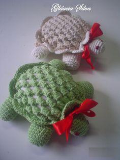 -Glaucia Silva: Tartaruga peso de porta de croche