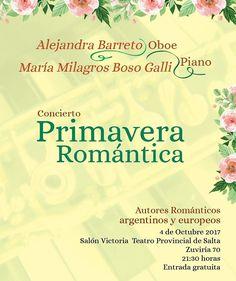 "4 Oct - 21.30 hs Teatro Provincial de Salta ""Concierto Primavera Romántica""  #Salta #Argentina #QHS #Agenda #Evento #Prensa  #Teatro #Music #Show #Arte #Cultura #Travel #Dance  #Love #Happy #Instagood #PhotoOfTheDay #Like4Like #Followme #Follow #Instalike #Instamoment #LikeForLike #TagsForLike #Family #Friends  #QueHacemosSalta #GobiernoDeSalta #SaltaTuCiudad #SaltaTanLindaQueEnamora Toda la info que necesitas la podes encontrar aquí  http://quehacemossalta.com/"