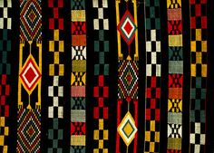 Textile patterns from the Igbo women's weaving industry at Akwete, now in southern Abia State. Textile Patterns, Textiles, African Culture, Sierra Leone, Contemporary Fashion, Ghana, Old And New, Pattern Fashion, Weaving