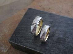 Mokume Gane Ring With Diamonds S Curve Guri Bori Gold David B Anderson