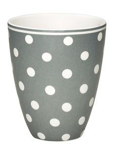 GreenGate Ceramic Cup Naomi Grey H 10,5 cm (S/S 2013)