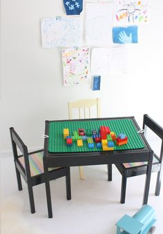 bingo! I really like this. Add a piece of wood with lego base plates on top to fit on the existing latt table.