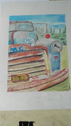Fast car - pastell drawing
