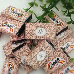 Chicletes personalizados dos noivos do casamento de Preta Gil e Rodrigo Godoy.