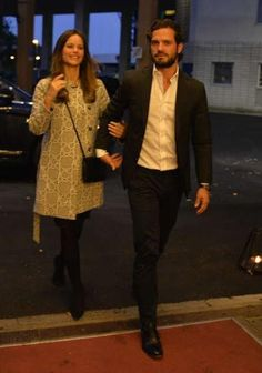 Prince Carl Philip and Princess Sofia at a concert in Stockholm