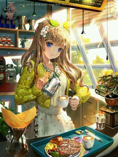 It's coffe time #anime #girl