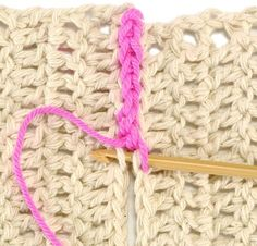 Many crochet patterns are made in pieces that must be attached. We show four of the most popular techniques, although there are many more. Always choose the best technique for your project.